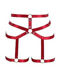 PETMHS Goth Body Harness Garter Belt Stockings for Women Sexy Lingerie Elastic Suspender Belt for Women