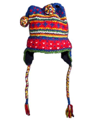 Wool/Cotton Children's Hat Nordic Blue Jester
