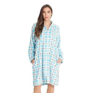 Just Love Plush Zipper Lounger Printed Short Robe
