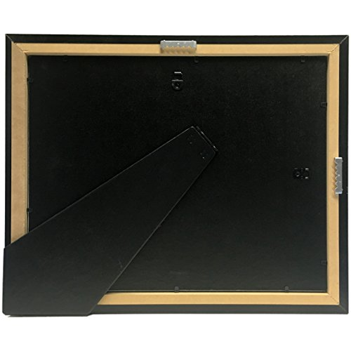 Creative Picture Frames CreativePF [11x14mh.gd] Mahogany Frame with Gold Rim, Black Matting Holds 8.5 by 11-inch Diploma with Easel and installed Hangers (12-Pack) by Creative Picture Frames (Image #7)