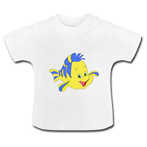 LARger Cartoon Yellow Fish Baby Classic T-Shirt 5T White (Ktan Breeze White compare prices)