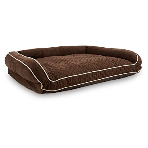 Petco Memory Foam Brown Couch Dog Bed, 48″ L X 36″ W X 10″ H, X-Large