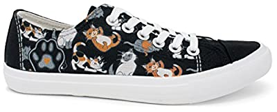 Kitten Sneakers | Cute, Fun Cat Mom Dad Lady Gym Tennis Shoe - Unisex Women Men