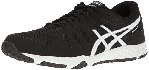 ASICS Men's Gel-Nitrofuze TR Cross-Trainer Shoe, Black White, 8.5 M US