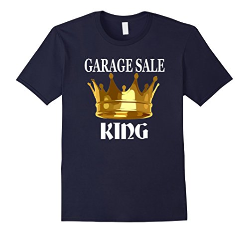 Men's Garage Sale King, Funny T-Shirt Large Navy