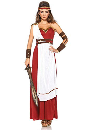 [Leg Avenue Women's Spartan Goddess Costume, Multi, Small/Medium] (Lady Reaper Costumes)