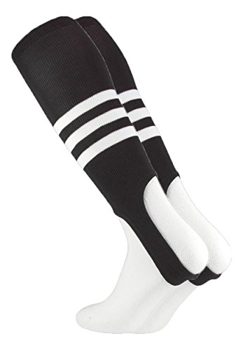MadSportsStuff Baseball Stirrups by TCK Pattern B (Black/White, Large)]()