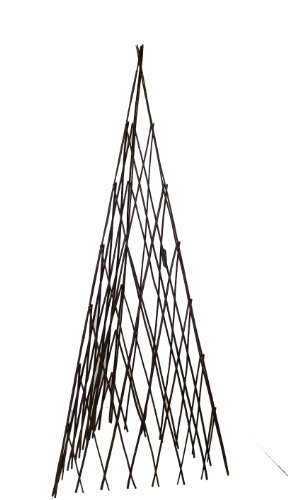 Master Garden Products Willow Expandable Teepee, 14 by 60-Inch Rustic Willow