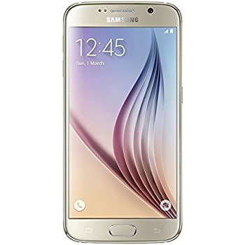 Samsung Galaxy S6 SM-G920F Factory Unlocked Cellphone, International Version, No Warranty 32GB, Gold