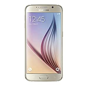 Samsung Galaxy S6 SM-G920F Factory Unlocked Cellphone, International Version, No Warranty 32GB, Gold