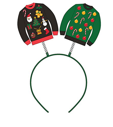 Forum Women's Ugly Christmas Sweater Headband Boppers Multi One Size Forum Novelties 75792