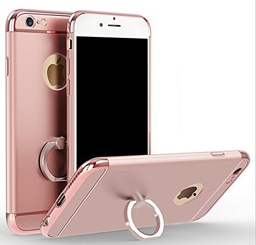 size 40 07298 10a26 iPhone 6 Plus/6s Plus 5.5 Electroplating Loop Grip Case-Aurora Rose Gold 3  Pieces Sleek Full Body Case for iPhone 6 Plus/6s Plus [Top+Body+Bottom] ...