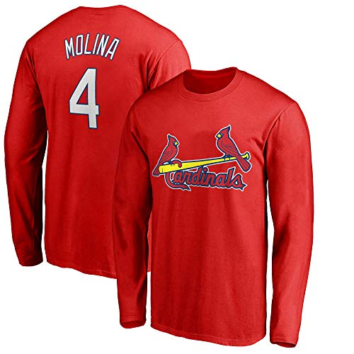 Outerstuff MLB Youth 8-20 Team Color Player Name and Number Long Sleeve Jersey T-Shirt (Large 14/16, Yadier Molina St Louis Cardinals - Long Louis Cardinals Sleeve