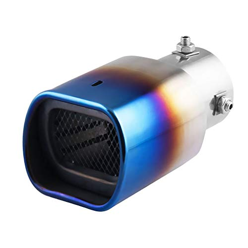Tubayia Universal Stainless Steel Car Exhaust Pipe Exhaust Silencer Exhaust Pipe for Most Cars: