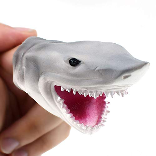 Little Story  Finger Dolls Clearance , 3.3in Shark Finger Puppet Baby Infant Kid Toys Silica Gel Spoof