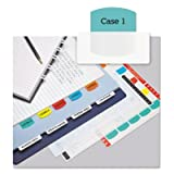 Laser Printable Index Tabs, 1 1/8 Inch, Five Colors, 100/Pack, Sold as 1 Package