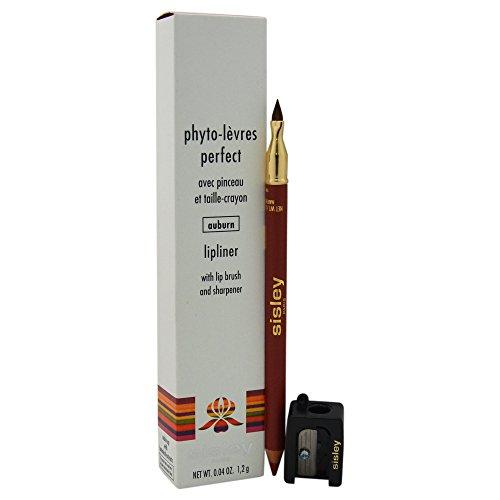 Sisley Women's Phyto-Levres Perfect Lipliner with Lip Brush and Sharpener, 10 Auburn, 0.04 Ounce