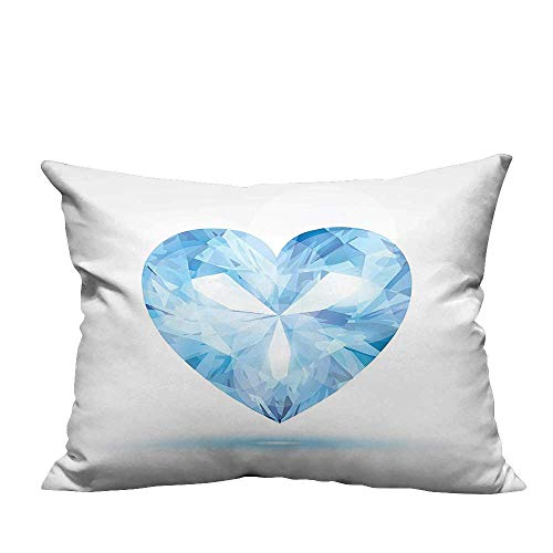 - YouXianHome Decorative Couch Pillow Cases Big Hanging Valentine He Shad Shadow Box Passi Romance Tune Blue Easy to Wash(Double-Sided Printing) 35x35 inch