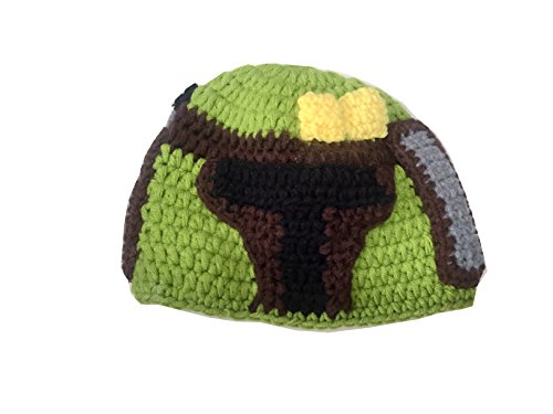 Star War Handmade Crochet Hat Beanie Princess Leia Stormtrooper Chewbacca Boba Fett BB-8 BB8 - Varies with Milk Cotton Yarn (Boba Fett, Teen Adult Female)