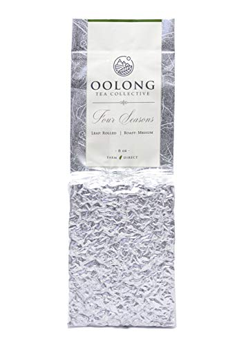 (Roasted Four Seasons Oolong Tea - 2019 Fresh Harvest - Natural Loose Leaf Tea - No Additives - 100% Taiwan Farm Direct by Oolong Tea Collective (8oz))
