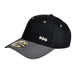 gorra de béisbol Batman con el logotipo de metal negro: Amazon.es ...