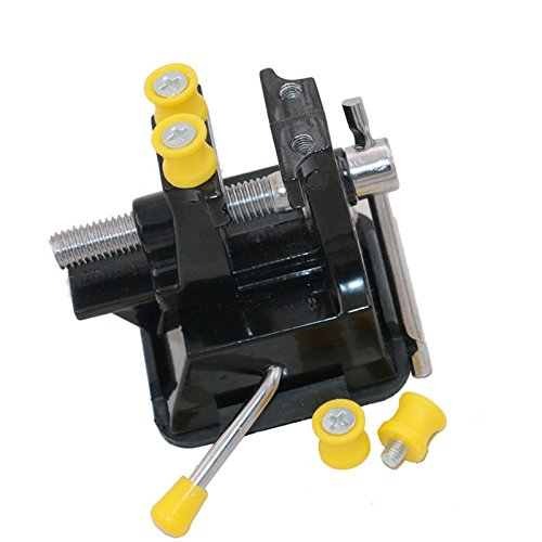 Gold Happy Mini Bench Table Vise Vice with Suction Cup Non-Scratching Tool for Watches Jewelry Electronics from Gold Happy