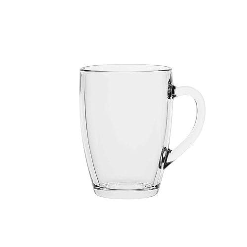 AmazonCommercial Single Wall Glass Mugs