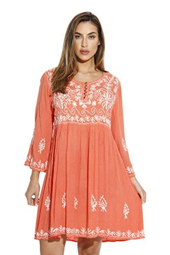 Riviera Sun 21643-CORAL-L Dress/Dresses For Women (Coral Sun)