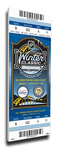 Winter Classic Mega Ticket (That's My Ticket 2011 NHL Winter Classic Mega Ticket Wall Decor, Capitals vs Penguins)
