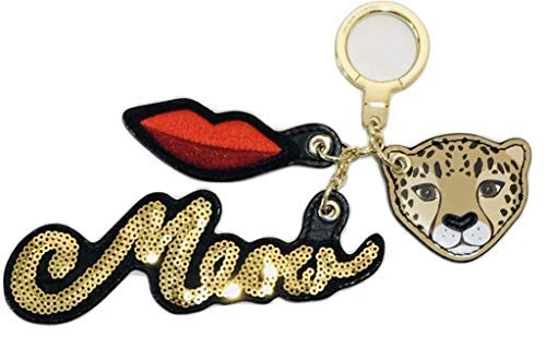 - Kate Spade Keychain Leopard Meow Leather Key Fob Large