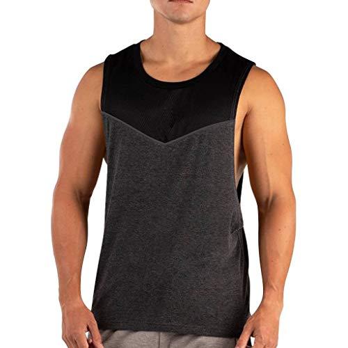 2019 Cotton Fitness Vest Men's Summer Cool Sleeveless Blouse Top Beautyfine