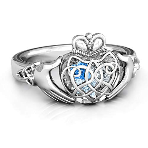 Jewelry & Watches Size 3-12 Sweet-Tempered Irish Celtic Claddagh Heart Love Ring Genuine Sterling Silver