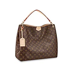 The spacious Graceful hobo has a lightweight, body-friendly design that makes it perfect for every day. The flat handle sits easily on the shoulder, while emblematic details, such as the leather name tag, reference Louis Vuitton's travel heri...