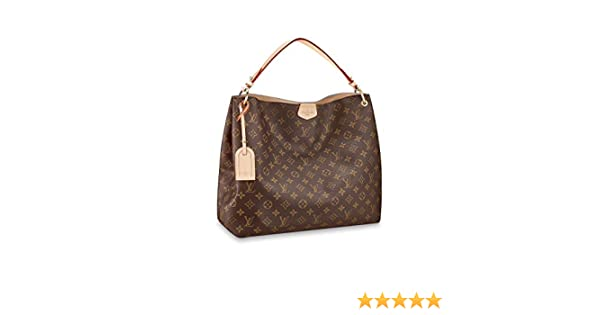 38d44e45eb04 Amazon.com  Louis Vuitton Monogram Canvas Graceful MM Beige Article M43704  Made in France  Clothing