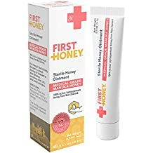 First Honey® Sterile Manuka Honey Ointment 0.5oz Tube with 100% Medical Grade Manuka Honey for First Aid Treatment of Minor Burns, Wounds, and Cuts (Chemical Free and Drug Free)