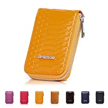 APHISON RFID Blocking Coin Pouch Purse CreditCard Case Holder Wallet with Zipper
