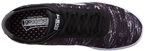 Skechers Performance Womens Go Step Lace-Up Walking Shoe Black White Multi WfFfOy