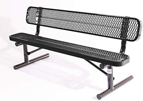 Coated Outdoor Furniture B6WBP-BLK Park Bench Back