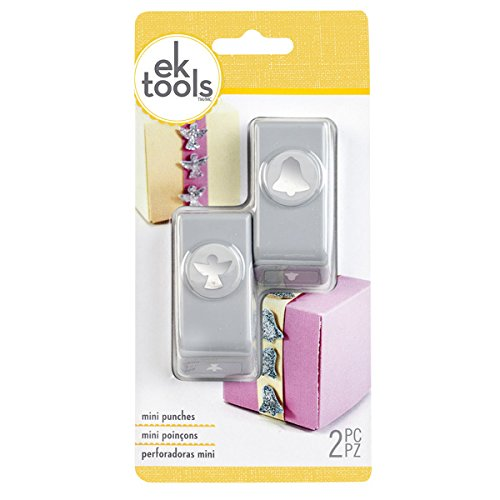 EK Tools 2-Piece Angel and Bell Mini Hole Punch Set (Discount Automotive Tools)