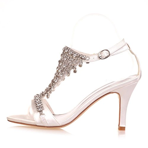 Night Novelty Toe White amp; Wedding 9920 YC Platform Evening Shoes 06A L Comfort Woman Crystal Peep 7q8PxSg