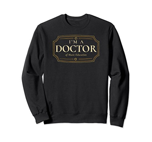 Phd music the best amazon price in savemoney unisex music education phd doctorate graduation gift sweatshirt small black fandeluxe Images