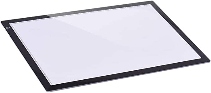 A2 26 / Pulgada Artista Junta Plantilla del Tatuaje Dibujo Rastreo Visualización Tabla Caja de luz LED Pad Copia del álbum Intelligent Touch de luz Dibujo para Mesa niños Dibujar proyector ca: