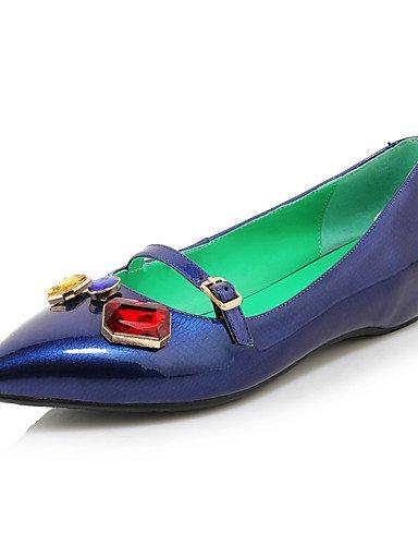 n Scarpe mujer EU tacones puntiagudos ZQ Blu tac ® bajo ¨ Bianco 36 di negro oficina casual cuero tacones Rosso Lavoro gYqAdS