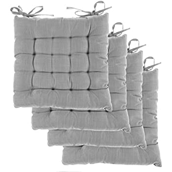 amazon com cottone 100 cotton chair pads w ties set of 4 16