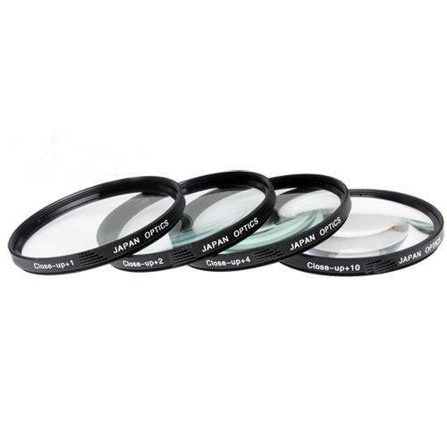 67mm Close-Up Filter Set (+1, +2, +4 and +10 Diopters) Magnification Kit - Metal Rim For Canon SX30IS SX30 IS SX40 HS SX40HS SX50 HS SX50HS Digital Camera + Filter Adapter + More!!