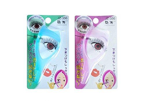 New 3 IN 1 Cosmetic Mascara Applicator Guide Eyelash Comb Cosmetic Brush Curler Eyelash card