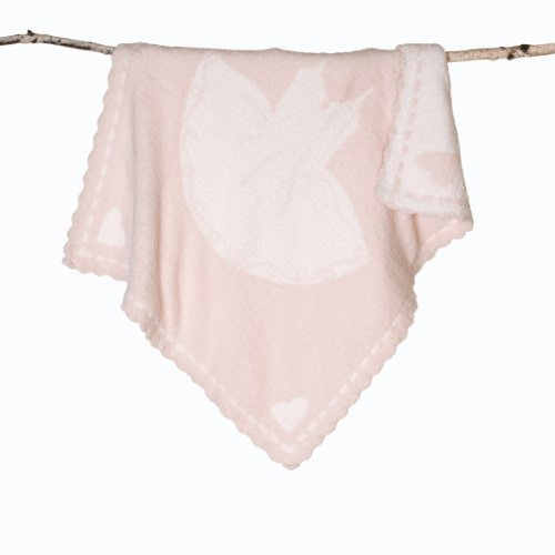 Cozychic Scalloped Receiving Blanket Pink-white Tutu