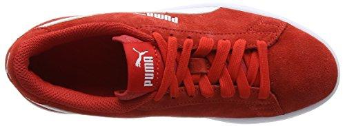 Puma Smash V2 SD Jr, Zapatillas Unisex Niños Rojo (High Risk Red-puma White)