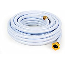 """Camco 50ft TastePURE Drinking Water Hose - Lead and BPA Free, Reinforced for Maximum Kink Resistance, 5/8""""Inner Diameter (22793)"""
