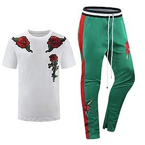 ALMAS APPAREL New Men Stripe Zip Pocket Track Pants Sweatsuit Men's Tracksuits Zipper Joggers